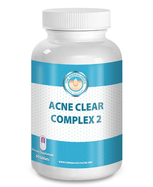 acne supplement clear complex 2 the dermalogics acne program. Black Bedroom Furniture Sets. Home Design Ideas