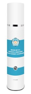 Micronized Benzoyl Peroxide Cleanser - Face and body cleanser with targeted antibacterial action for acne.